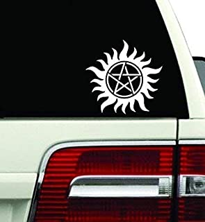 "Anti-Possession Symbol Supernatural catholic voodoo demons Decal Sticker for Car Window Laptop wall (5.5"" inches, White)"
