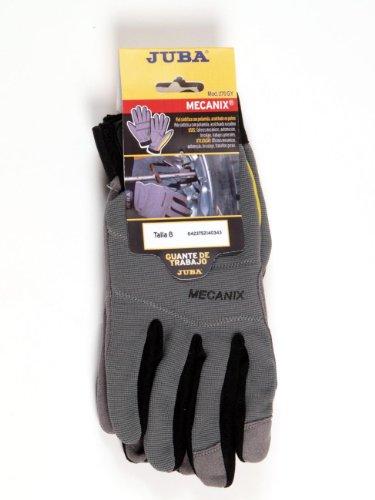 Juba Gant en cuir synthétique/Spandex/Velcro Rouge Taille 8