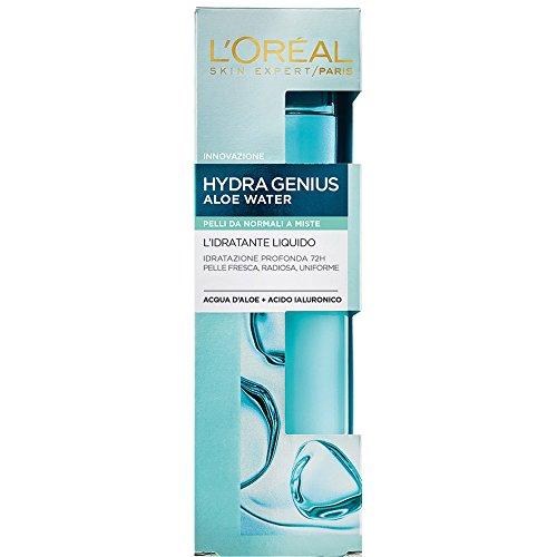 L Oréal Paris HydraGenius Crema Viso Idratante Liquido Giorno, Pelli da Normali a Miste, 70 ml