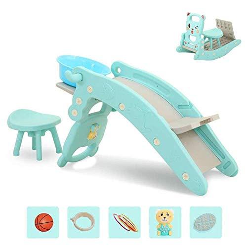 Yangsanjin Children's Slide, Children's Shampoo Bed Slide and Rocking Horse Combinatie voor kinderen binnen en buiten, geschikt voor 1-6 jaar oude baby