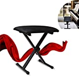 Portable X-Style Padded Keyboard Bench, Piano Chair Seat, High-Density Sponges, 3 Adjustable Height