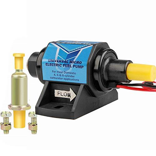 CarBole Universal 12 Volt Electric Fuel Pump 5-9 PSI, 35GPH, Super 12S for Gasoline and Diesel Engines