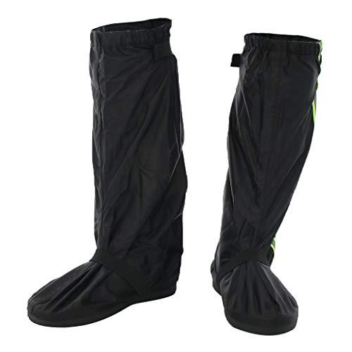 F Fityle wasserdichte Regenüberschuhe Fahrrad Motorrad Regenschuhe Überziehschuhe Schuhüberzieher Überschuhe für Camping Wandern Radfahren Bergsteigen - Schwarz, XL