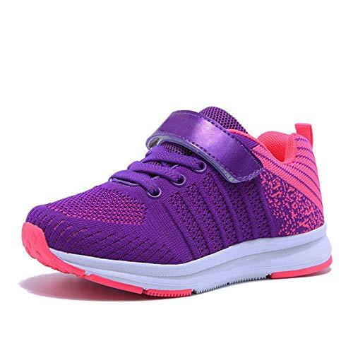 Sneaker Mädchen Laufschuhe Jungen Hallenschuhe Jungen Outdoor Sportart Schuhe Low-Top für Unisex-Kinder, Gr.-30 EU=31CN, Rosa