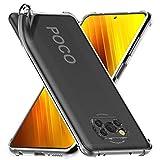 ebestStar - kompatibel mit Xiaomi Poco X3 NFC Hülle Flex Silikongel Handyhülle, Klar TPU Schutzhülle, verstärkten Rändern & Ecken, Transparent [Phone: 165.3 x 76.8 x 9.4 mm, 6.7'']