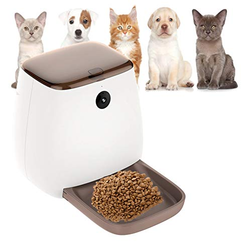 IOPJKL Pet Feeder, Pet Intelligent Automatic Feeder, Cat und Dog Timing Feeder App-Einstellungen Automatic Feeder