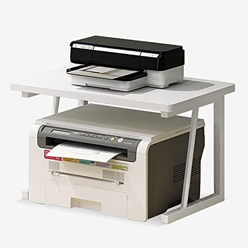 Soporte de Impresora Soporte de escritorio de soporte de impresora, impresora multifunción de escritorio Escáner del escáner de la copiadora Soporte para el organizador espacial como estante de almace