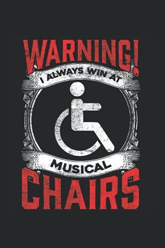 Chairs: Sarkastischer Rollstuhl Lustiger Handicap Musikalischer Witz Notizbuch DIN A5 120 Seiten für Notizen Zeichnungen Formeln   Organizer Schreibheft Planer Tagebuch