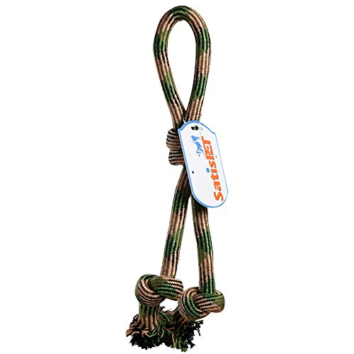 SatisPet Large Dog Interactive Rope Tug Toy