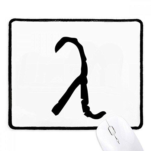 DIYthinker Greek Alphabet Lambda Schwarze Silhouette Griffige Mousepad Spiel Büro Schwarz Titched Kanten Geschenk