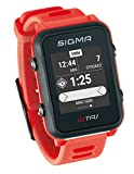 Sigma Sport ID.Tri Basic Reloj de triatlón GPS, Unisex-Adult, Neon Red,