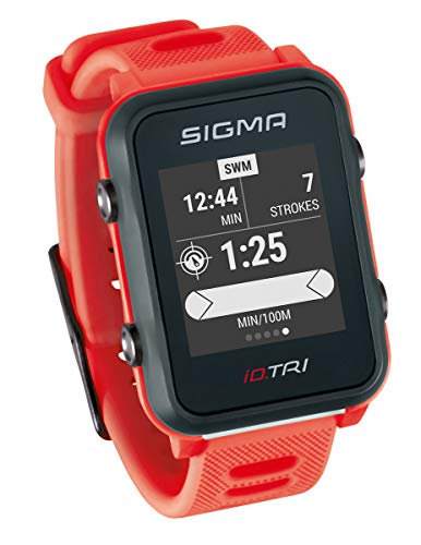 Sigma Sport ID.Tri Basic GPS Triathlon Watch, Unisex-Adult, Neon Red,