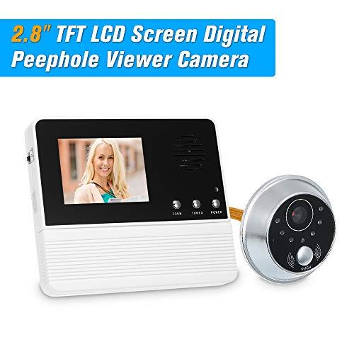 OWSOO Digital Peephole 2.8 Zoll TFT LCD-Bildschirm Digital-Augen-Zuschauer Guckloch-Kamera Tür-Monitor-elektronische Digitale Tür-Überwachung für Haussicherheits-Türklingel