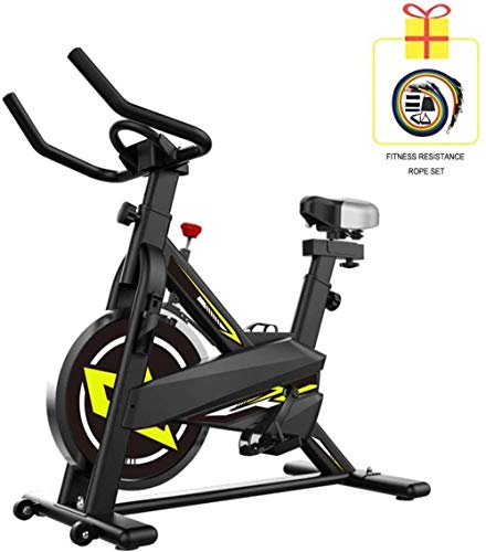 Stoge Indoor Ultra-stille hometrainer (sportweerstandsband) Aerobe trainingsapparatuur Huishoudelijke fiets Hometrainer Gebruikt voor gewichtsverlies Workout dsfhsfd(Upgrade)