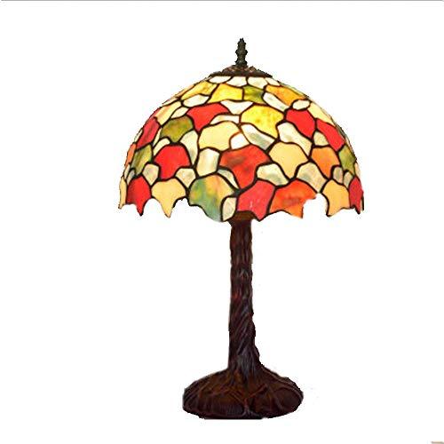 Lámpara De Mesa Tiffany De 12 Pulgadas, Lámpara De Litera Hecha A Mano Europea Creativa Creativa E27 Lámpara De Lectura De Aleación De Zinc