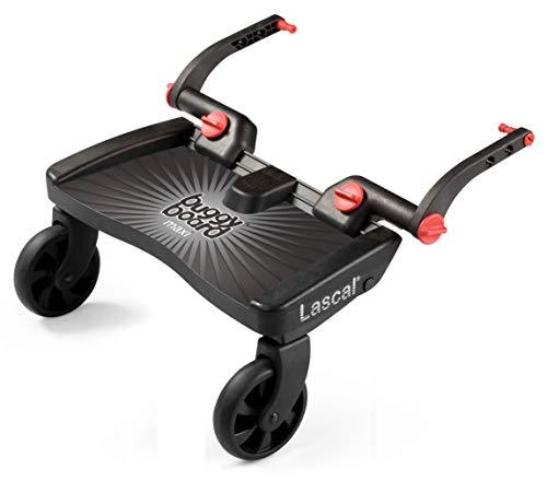 Lascal BuggyBoard m1B, Planche BuggyBoard avec grande plateforme, Accessoire poussette pour enfants de 2 à 6 ans (22 kg), Pour la poussette M1 Buggy de Lascal, gris