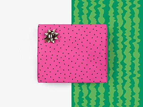 5 Bögen Geschenkpapier - Melon - von typealive - lustige Geschenkbögen für sommerliche Anlässe im Format 50x70 cm