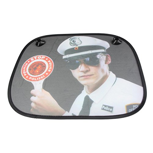 Donkey 310202 Protection solaire pour voiture, Stop police, 45 x 36 cm