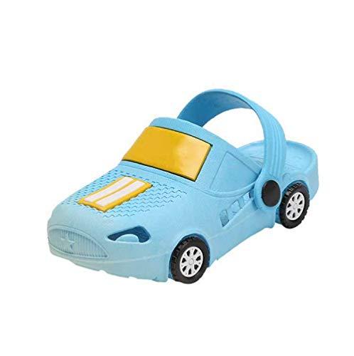 MISS LI Chanclas Zapatillas De Verano para Niños con Forma De Coche para Niños Zapatillas Antideslizantes para Niños Sandalias Y Zapatos De Playa para Niños,Blue-33-34/20cm