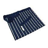 Shiwaki Grembiuli alla Moda Tasche, Grembiule da Cuoco Leggero, Mezzo Grembiule Plus Size per Cucinare, cuocere al Forno, Barbecue e servire - Plaid Stripe Blue