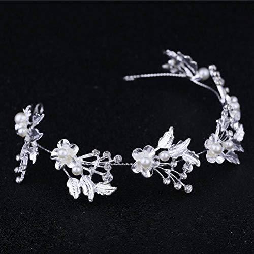 Diadema de Cristal, Aleación De Plata Tocado Bridesmaid Hoja De Árbol Studded...