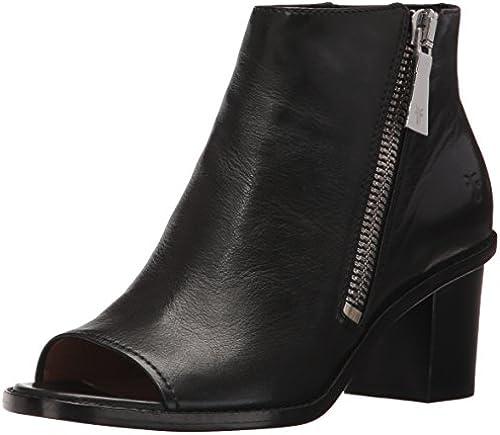 FRYE damen& 039;s Brielle Zip PEEP Stiefelie Stiefel, schwarz Polished Soft Full Grün, 9 M US