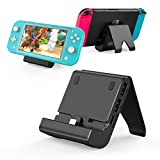 Charging Dock for Switch/Switch Lite, YCCTEAM Multi-Angle Compact Switch Charging Stand Station with 4 USB Ports, Portable Switch Game Mount Dock with Type C Charging Port