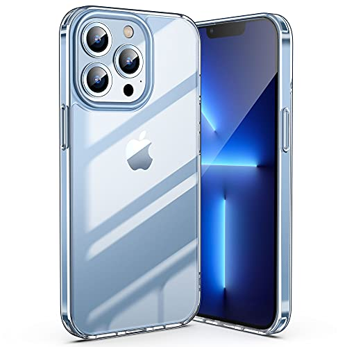 ULAK Crystal Clear Case Compatible with iPhone 13 Pro 2021, Transparent Shockproof Protective Phone Cover Slim Thin Anti-Scratch, 6.1 inch