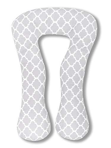 Amilian® Kissenbezug für Schwangerschaftskissen Lagerungskissen Relaxkissen Indien grau TYP A