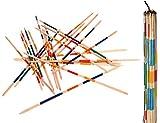 Izzy Mikado Länge 100 cm XXL Riesenmikado Holz Kinder Riesen Mikado im Beutel