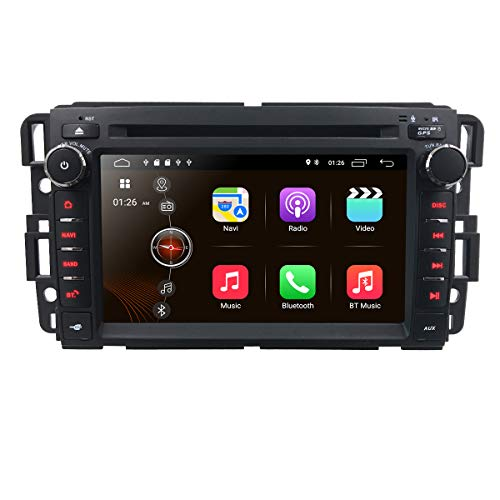 7 inch Android 9.0 Quad Core 2 Din in Dash Touchscreen Car Stereo DVD Player FM/AM Radio Receiver Navigation Bluetooth for GMC Chevy Silverado 1500 2012 GMC Sierra 2011 2010