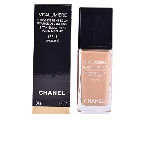 Chanel Vitalumiere Satin Smoothing Fluid Makeup SPF 15 No 30 Cendre 30ml