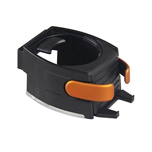 XFAY 2 en 1 Support Multifonctionnel de Voiture en Plastique pour Gobelet/Smartphone & Support Porte-gobelet & Support Téléphone / Bouteille/ Canette / Clés / Cartes ect. - Orange