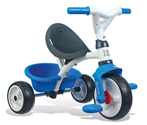Smoby - Tricycle Baby Balade Bleu - Vélo Evolutif Enfant Dès 10 Mois - Roues Silencieuses - Klaxon - 741102