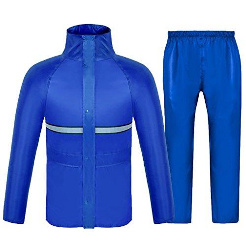 LSLS Chubasquero Lluvia Hombres Y Mujeres Impermeable Reutilizable Impermeable con Capucha Lluvia Al Aire Libre Y El Viento Poncho (Color : B, Size : XX-Large)