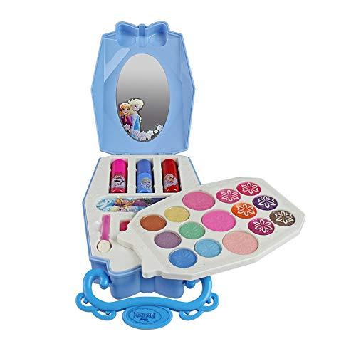 SH-Flying Kosmetik Werkzeug Spielzeug - Makeup Box Spielzeug Set - 22 Stücke Disney EIS Prinzessin Mit Pinsel Lidschatten Nagellack Für Kinder Kinder Mädchen