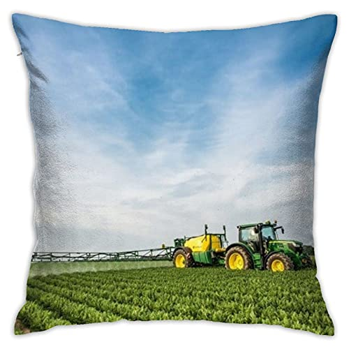 87569dwdsdwd Mouth Cover Tractor Farm Throw Pillow Cover Pillow Cases for Home Decor Design Cushion Case for Sofa Bedroom Car 18 X 18 Inch 45 X 45 cm