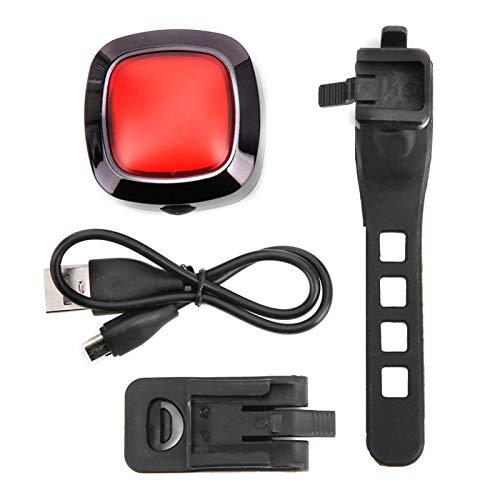 zhuolong Lámpara para Bicicleta, Carga USB Luz Trasera para Bicicleta Freno Inducción Impermeable Seguridad Lámpara Trasera para Bicicleta Negro