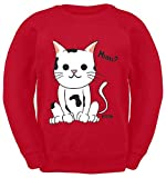Hariz - Suéter para niños, diseño de gatos divertidos rojo 12 años