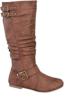 TOP Moda Night-76 Women's Slouched Under Knee High Flat Boots