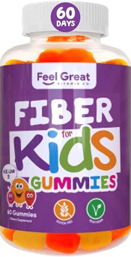 Prebiotic Fiber Gummies for Kids by Feel Great 365 | Improves Digestive Health, Gut Flora, Health & Immunity* | Vegetarian & Vegan Friendly Supplement | Non-GMO, Made with Fruit Pectin
