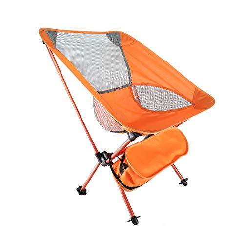 MOKA OUTDOOR Tragbarer Camping Klappstuhl, ultraleichter Rucksack mit Tragetasche, geeignet für Outdoor, Camping, Angeln, Strand, Reisen,Orange