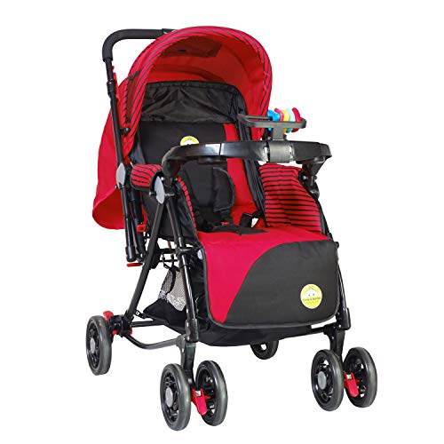 Tiffy & Toffee 3 in 1 Baby Stroller Grand (Red)