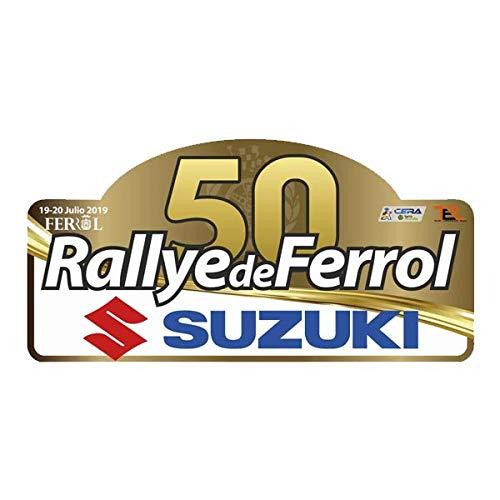 Pegatina Placa Rallye DE FERROL 2019 Adhesivo Vinilo PR341