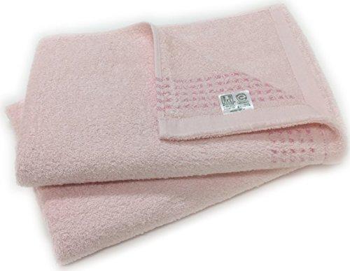 泉州タオル オーガニックコットン バスタオル 2枚組 日本製 ピンク2枚
