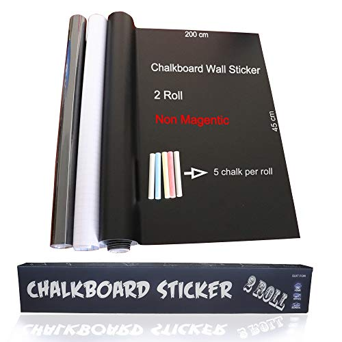 Magnetisch bord Sticker 78× 18 In Non-magnetic Zwart