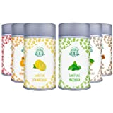 sweetcare vainilla, naranjas, canela, jengibre, Chilli, limones, mint-sugar sustituir con Eritritol y Stevia, la alternativa natural para azúcar