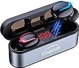 【型】ワイヤレスイヤホン Bluetooth IPX8 防水 Bluetooth ワイヤレス 5.0 超軽量 两耳左右分離型 自動接続 ハンズフリー通話 LED電量表示 120時間待ち受 適用iPhone/ipad/Android-Siri対応
