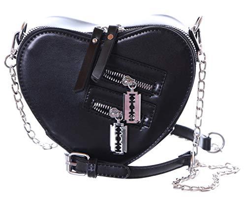 Kawaii-Story LB-6027-2 - Bolso para mujer, diseño de corazón, color negro