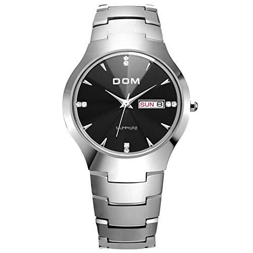 Dom Wolfram Stahl Herrenuhr Sport Luxus Top Marke Saphir Spiegel Handgelenk 30m wasserdicht Business Quarz Uhren Mode-Männlich 698-1